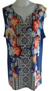 JM Collection Plus-size Floral Sleeveless Tunic