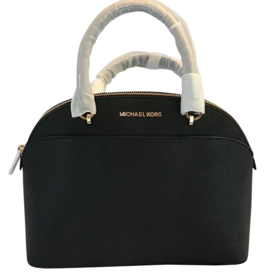 4afd8745cf Michael Kors Emmy Large Dome Black Saffiano Leather Satchel - Tradesy