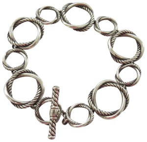 "David Yurman Infinity Collection SS 7.5"" Toggle Clasp Bracelet, Medium"