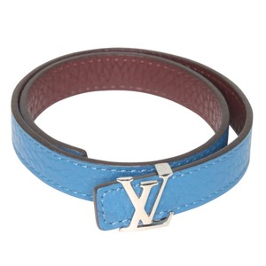 Louis Vuitton Classic LV Leather Initials Reversible Push-Stud Bracelet