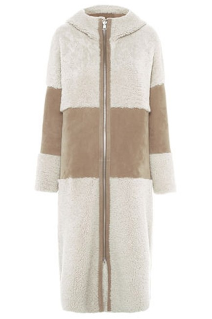 Whistles Shearling Suede Fur Coat Image 0