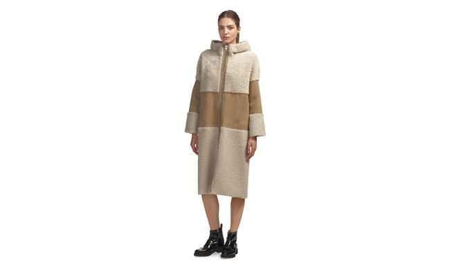 Whistles Shearling Suede Fur Coat Image 1