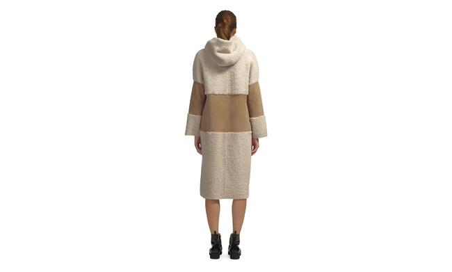 Whistles Shearling Suede Fur Coat Image 2