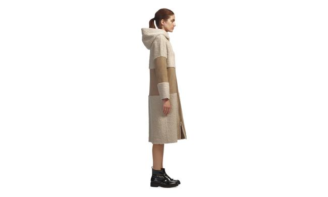 Whistles Shearling Suede Fur Coat Image 3