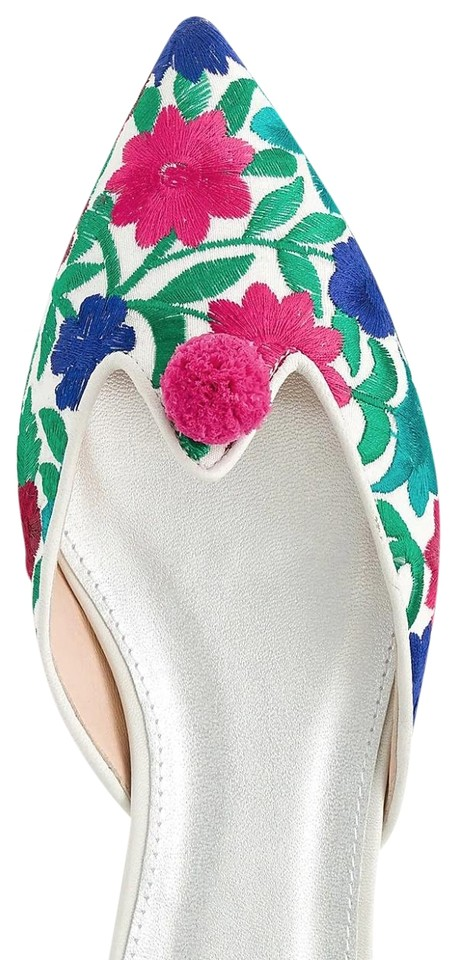 J.Crew Multicolor Multicolor J.Crew Floral Embroidered Pointed-toe Mules/Slides bb7a8c