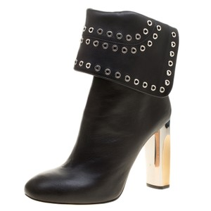 Alexander McQueen Leather Ankle Black Boots