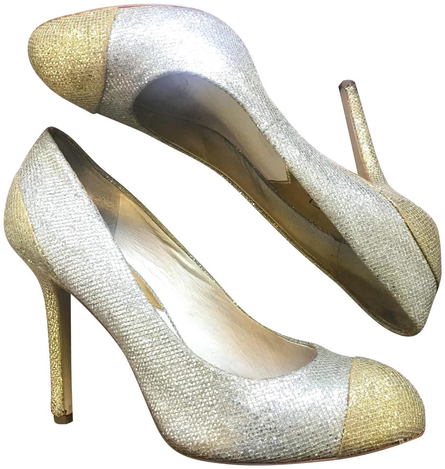 92abb54cae60 Michael Kors Silver Gold Glitter  sinclair  Pumps Size US 9 Regular ...
