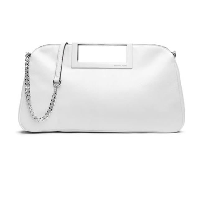 Item - Berkley Optic White Leather Clutch