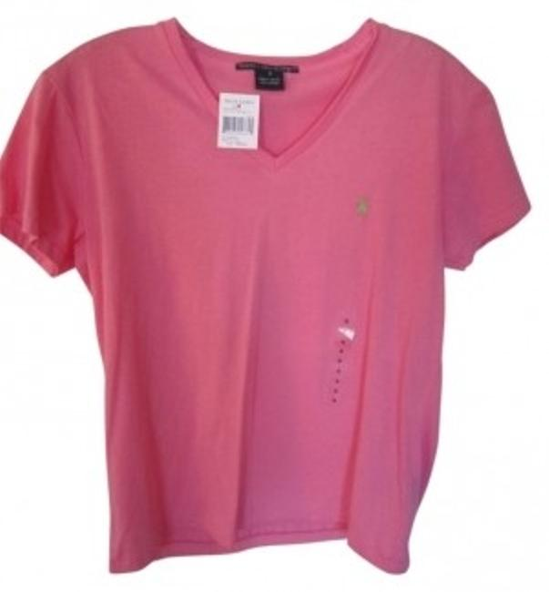 Preload https://item3.tradesy.com/images/polo-ralph-lauren-pink-v-neck-tee-shirt-size-4-s-24042-0-0.jpg?width=400&height=650