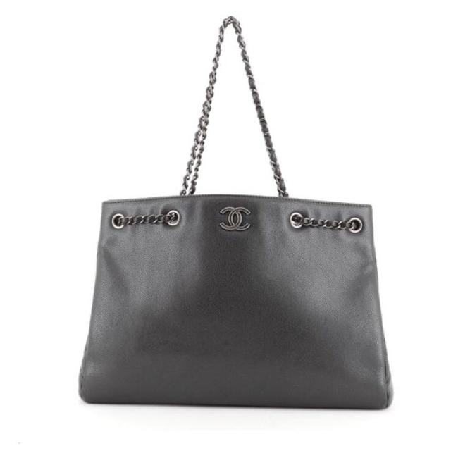 Chanel Classic Large Shopping Caviar Gray Tote Chanel Classic Large Shopping Caviar Gray Tote Image 1