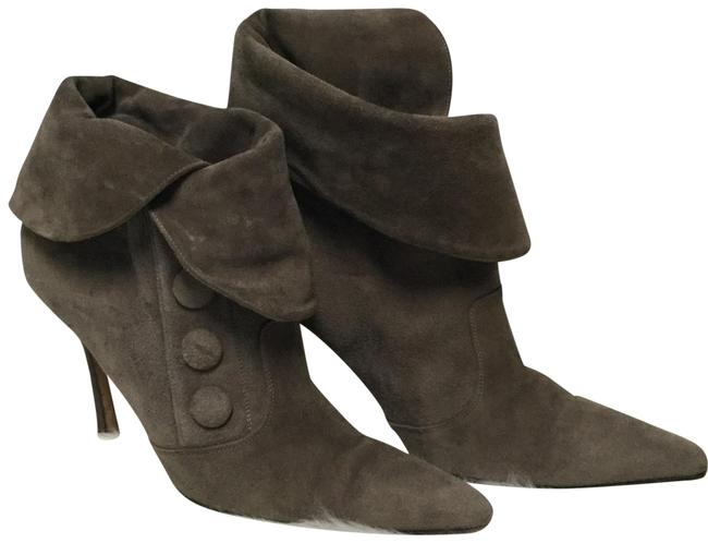 Item - Gray Suede Button Boots/Booties Size EU 37.5 (Approx. US 7.5) Regular (M, B)