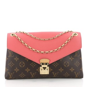 Louis Vuitton Pallas Monogram Front Flap Chain Shoulder Bag