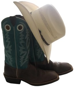 Justin Boots Brown/Blue Boots