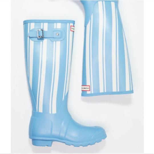 Hunter white/blue Boots Image 1