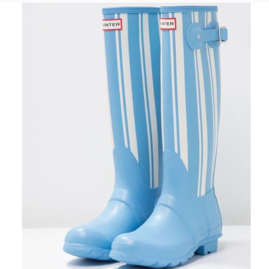 Hunter white/blue Boots Image 2