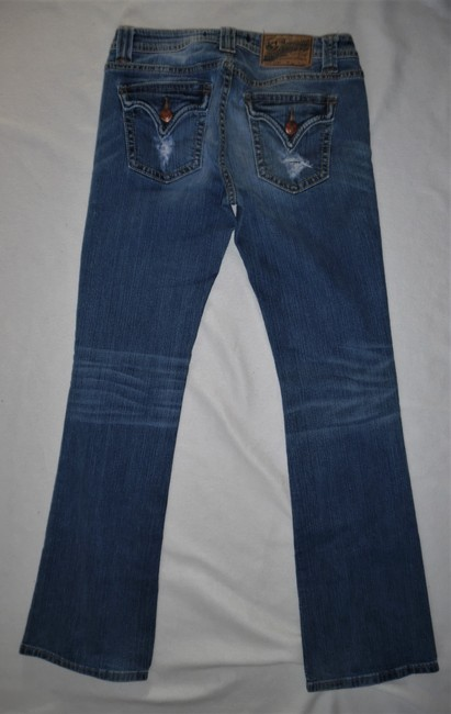 Vigoss Stretch Ripped Boot Cut Jeans-Distressed Image 2