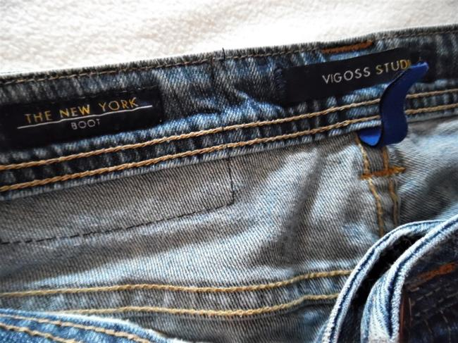 Vigoss Stretch Ripped Boot Cut Jeans-Distressed Image 3