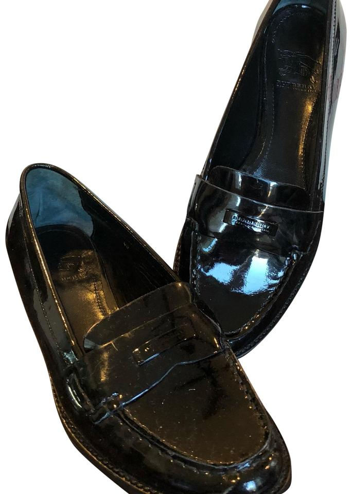 3b0d44181 Burberry Black Patent Leather Loafers Flats Size EU 40 (Approx. US ...