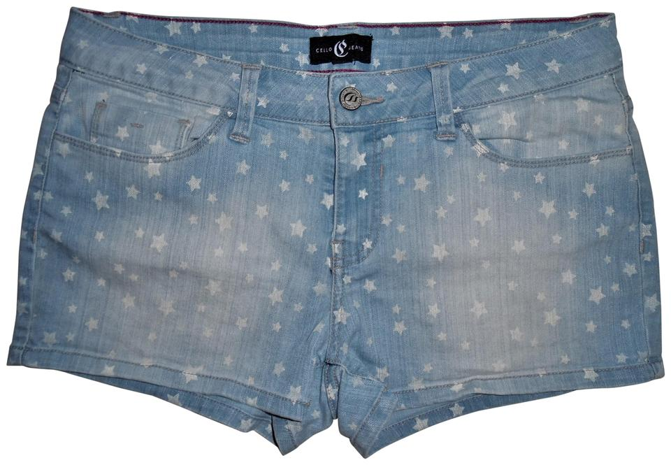 be18c4a0af Cello Jean Stretch Stars Mini/Short Shorts Light Blue, White Image 0 ...
