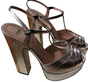 Fendi silver and gold Platforms