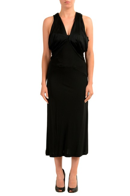Item - Black V-11924 Mid-length Casual Maxi Dress Size 12 (L)