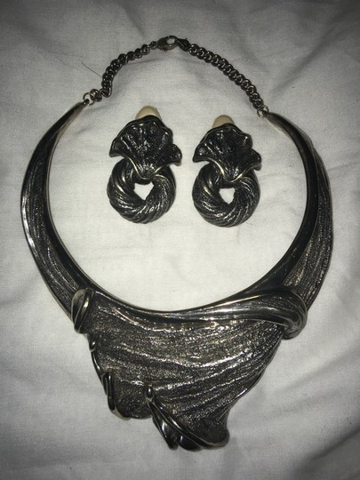 N.S. BAR-ON VINTAGE SILVER NECKLACE AND ERRINGS BY N.S. BAR-ON Image 9