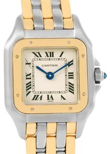 Cartier Cartier Panthere Ladies Steel 18K Yellow Gold 3 Row Watch W25029B6