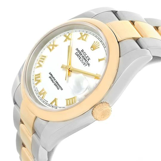 Rolex Rolex Datejust 36 Steel Yellow Gold White Dial Mens Watch 116203 Image 4