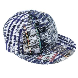 Chanel Multicolor Texture Multicolor Textured Embellished Baseball Cap