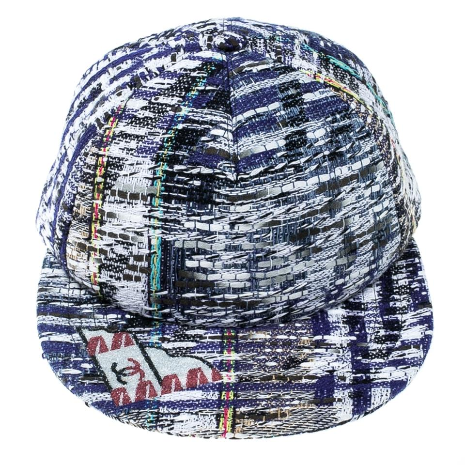 b9756a27d32cf Chanel Multicolor Texture Textured Embellished Baseball Cap Hat ...