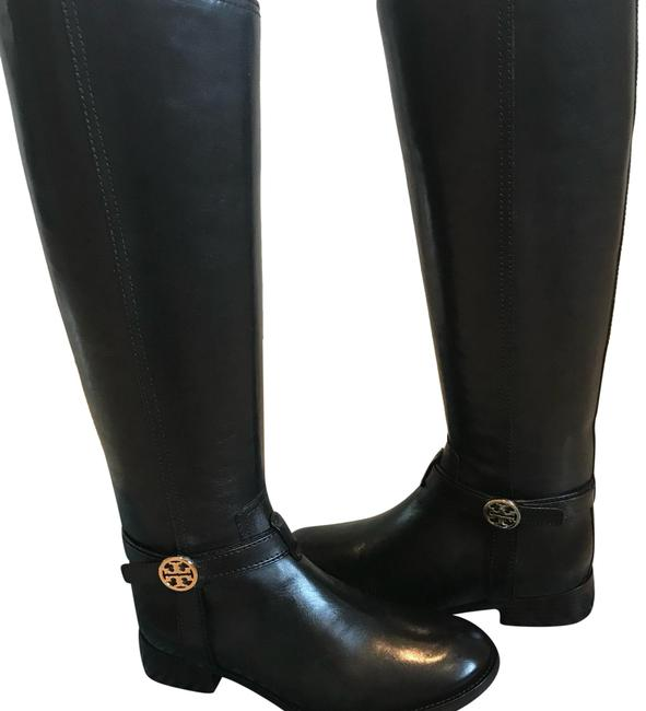Tory Burch Black Riding Knee High Boots/Booties Size US 6 Narrow (Aa, N) Tory Burch Black Riding Knee High Boots/Booties Size US 6 Narrow (Aa, N) Image 1
