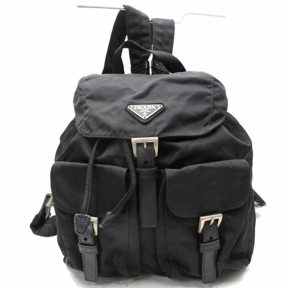 58c7eeb1cffa Prada Double Tessuto Pocket 867836 Black Nylon Backpack - Tradesy