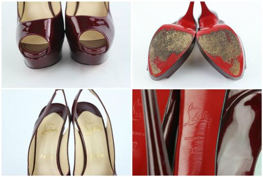 Christian Louboutin Open Tote Strappy Platform Peep Toe Sandals Image 4