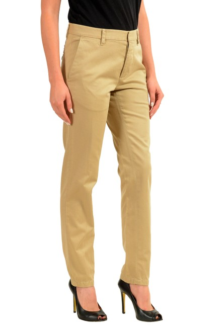 Dsquared2 Straight Pants Beige Image 1