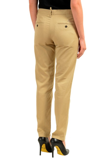 Dsquared2 Straight Pants Beige Image 2