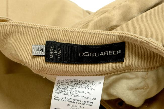 Dsquared2 Straight Pants Beige Image 3