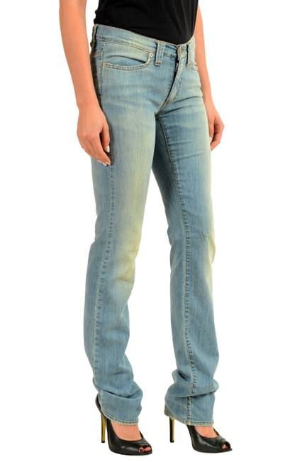 Versace Jeans Straight Pants Blue Image 1