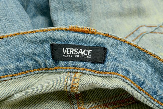 Versace Jeans Straight Pants Blue Image 3