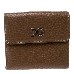 Dolce&Gabbana Brown Leather Compact Wallet