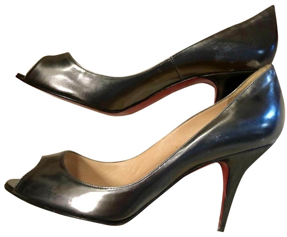 Christian Metal Louboutin Gun Metal Christian Yo Yo 85 Pumps b8c974