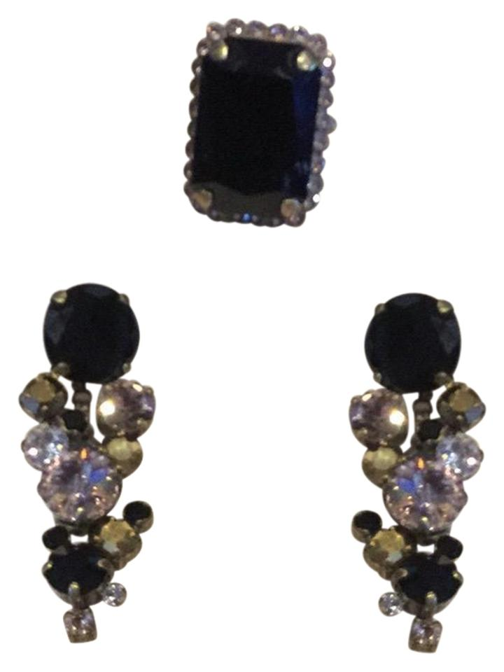 dc44c80ca Sorrelli Black Fringe Collection Earrings and Cocktail Ring Set ...