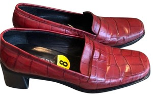 Sesto Meucci Leather Burgundy Pumps