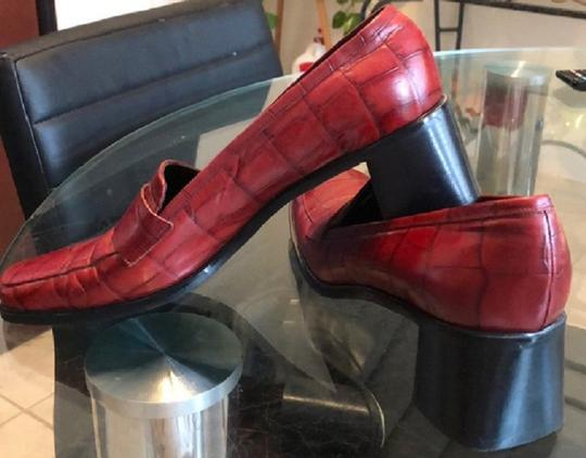 Sesto Meucci Leather Burgundy Pumps Image 2