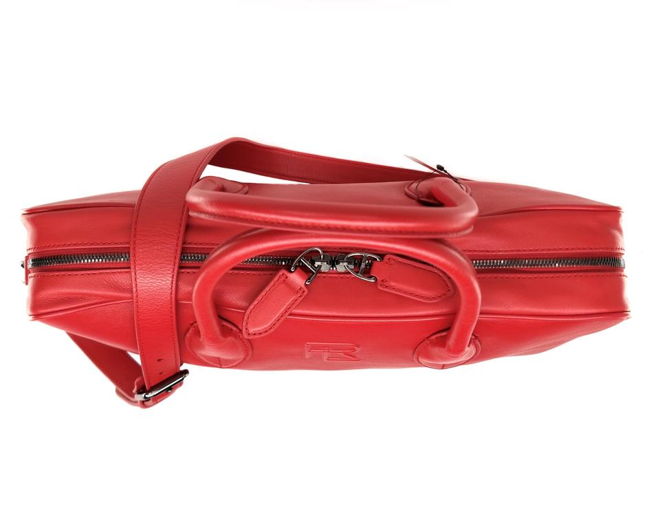 Ralph Lauren Collection Briefcase Bright Red Leather Shoulder Bag ... 10686a1d7cda9