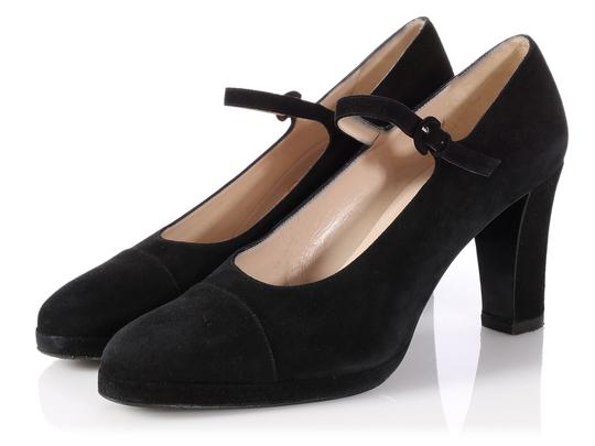 Chanel Mary Jane Classic Ch.p0817.13 Reduced Price Black Pumps Image 2