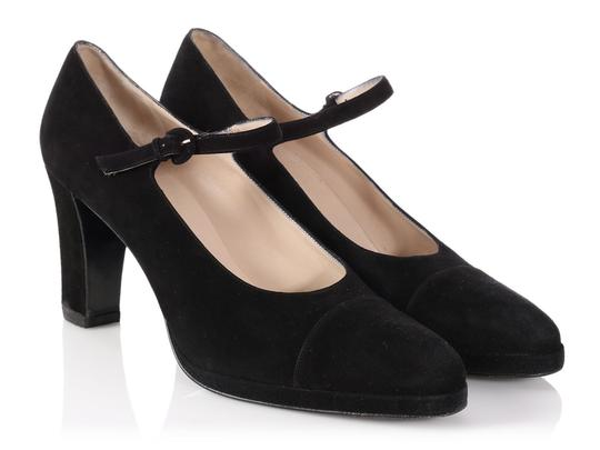 Chanel Mary Jane Classic Ch.p0817.13 Reduced Price Black Pumps Image 4