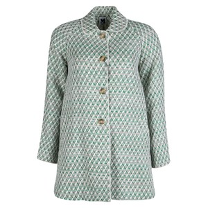 M Missoni White And Green Wicker Infused Basket Weave Jacket S