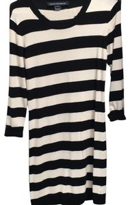 French Connection short dress black and white stripe on Tradesy