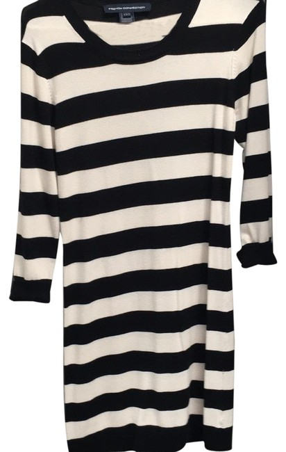French Connection Black and White Stripe 71d7 Short Casual Dress Size 8 (M) French Connection Black and White Stripe 71d7 Short Casual Dress Size 8 (M) Image 1