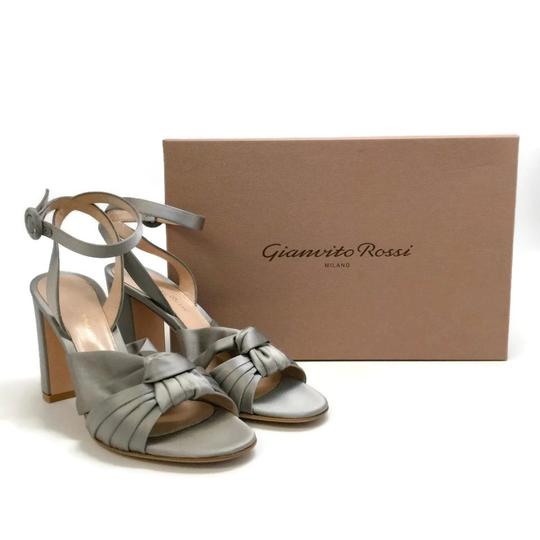 Gianvito Rossi Grey / Satin Formal Image 9